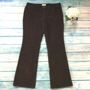 St Johns Bay Pants sz 16 Brown Corduroy
